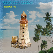 Fashion ceramic lighthouse home decoration crafts Mediterranean European and American style