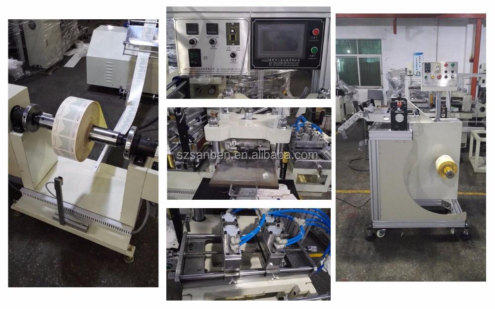 SanBen Auto À Plat Autocollant Étiquette die machine de découpe Dorure à Chaud die-machine de découpe pour rouleau à rouleau avec haute vitesse