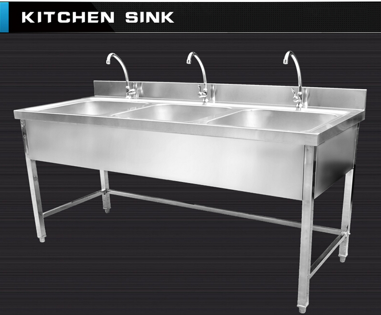 Commercial Hotel Restaurant Stainless Steel Kitchen Sink Cabinet With Faucets Buy Stainless