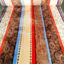 Striped Bedding Sets Fabric Textiles Fleece Polyester Coral Fleece