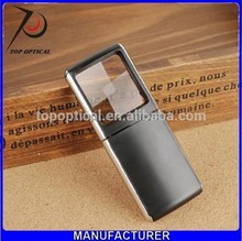 Mobile phone shape portable pocket plastic magnifier for reading with led light