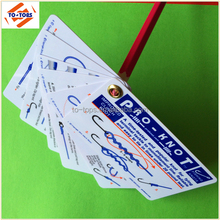 Full Color Printed plastic punch card with eyelet