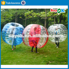 Cheap adult human inflatable buddy bumper bubble ball suit for sale