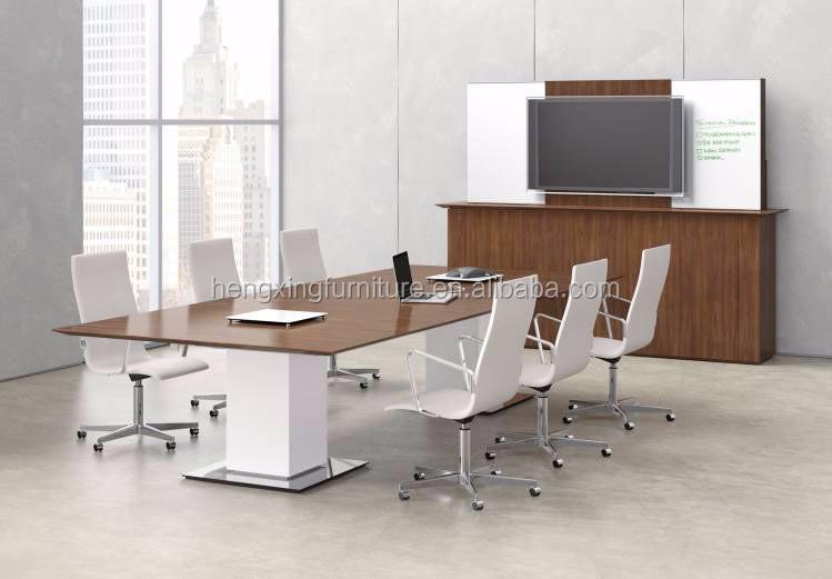 Moderne mobilier de bureau mdf stratifié table de réunion de