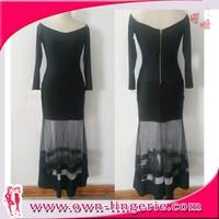 2015 summer quality factory transparent dress fashion show