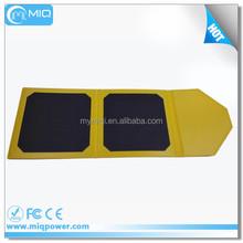 Shenzhen MiQ 2015 new design ultrathin folding solar charger for mobile phone