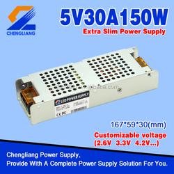 China Supplier 150W 5V Extra Slim Led Power Supply