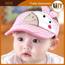 2015 Wholesale Animal Printing Visor Baby Sun Hat With Rabbit Ears