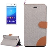 mobile phone accessories plastic bags cow leather mobile phone case for Sony Xperia C4