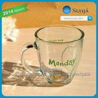 Hot sale! green tea mug lipton glass cup famous brand morning mug coffee mug/tea cup with Lipton decal drinking lipton glass cup