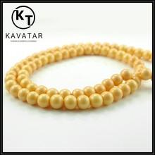Perles de verre jaune vif semences. mix. 6mm