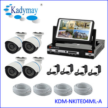 """hot h.264 4ch lcd ip ir camera nvr kit, 7"""" lcd monitor dvr and camera kit, easy to use for home security"""