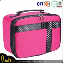 Factory direct top quality fashion train case makeup bag
