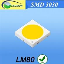 King brite 1W 3030 3.0-3.4V 350mA 110-120LM LED chip Ultra light led diote