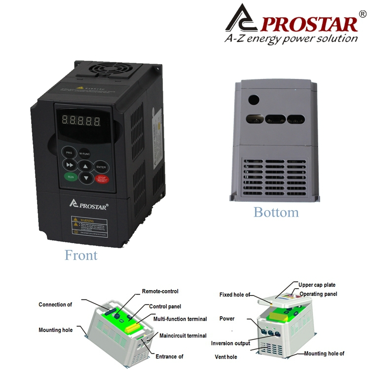 PRSTAR single phase 220V 1.5KW motor use speed control Variable Frequency Inverter