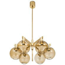 0520-86 glass ball chandelier large leaf