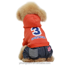 pet dogs products / dog apparel / dog accessories sport dog clothes with four legs hoodie dog clothes winter