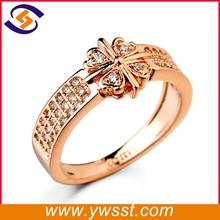 2015 korean engagement design gold ring flower shape