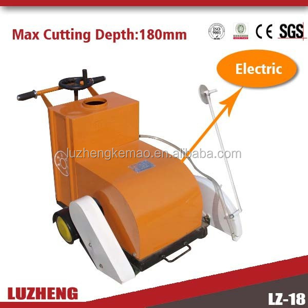 LUZHENG concrete slab road cutter cutting 180mm with 500mm blade 7.5KW big powe sale in world markets