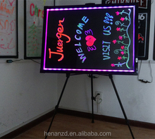 2015 Christmas promotion battery aluminum frame 60x80cm backboard neon writing board