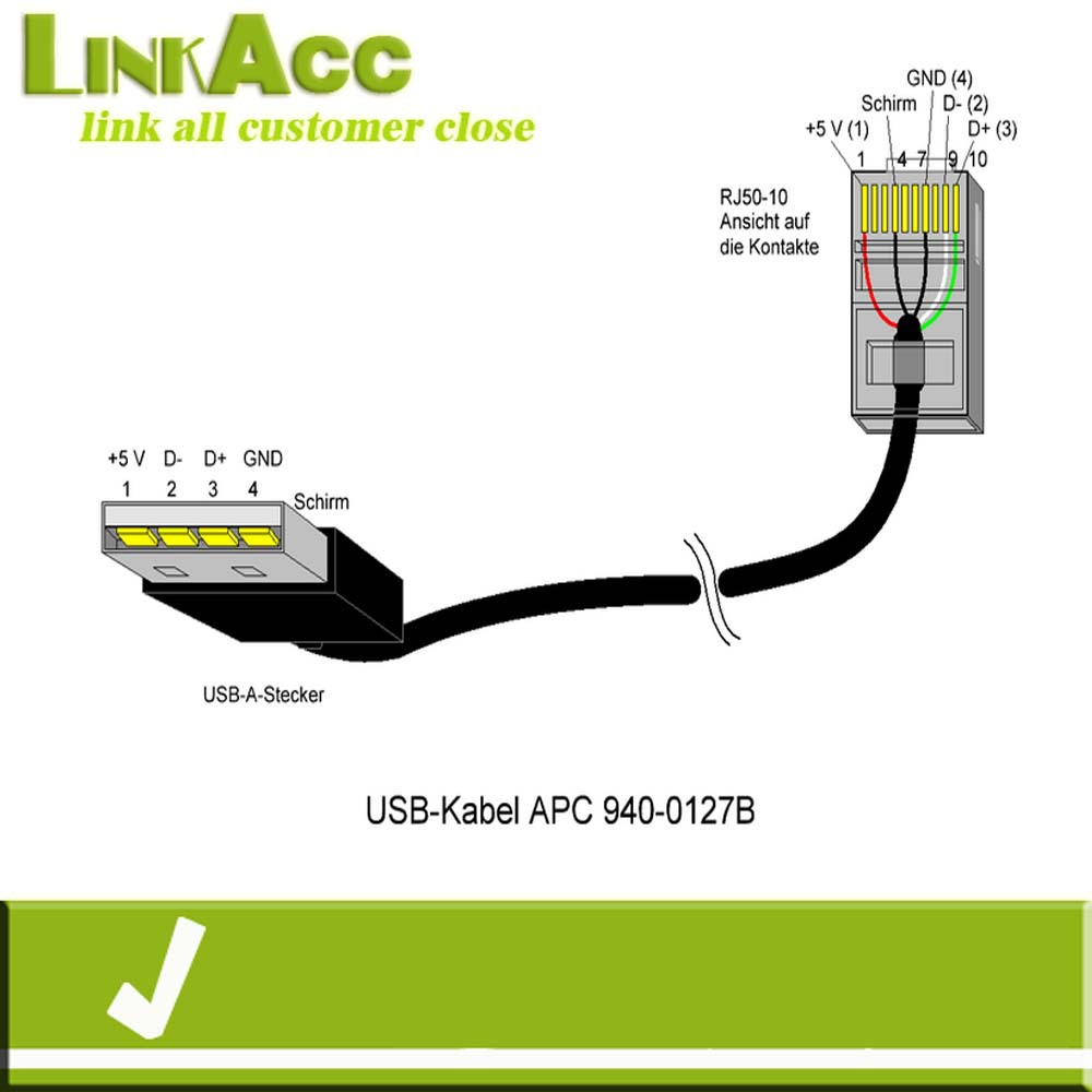 Wiring Diagram For Apc Ups : Linkacc nc usb a male to rj p c for pc cable buy
