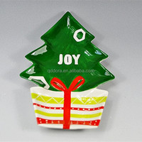Christmas tree shape dinner plate