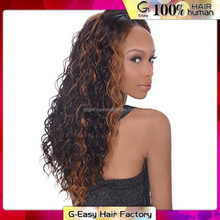 Wholesale Cheap Prices 6A Grade Human Virgin Hair Lace Front French Curl Wigs