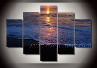 Hand-painted Beautiful Seascape sunset oil painting on canvas Wall Canvas Art for Home Decor