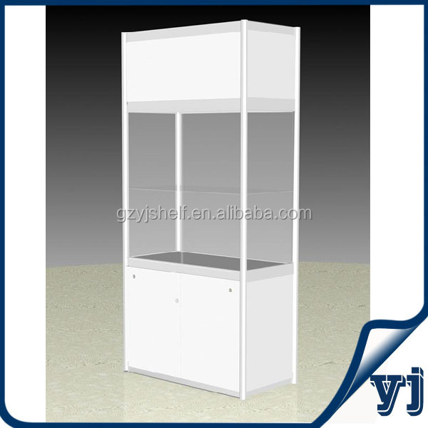 light up verre vitrine bijoux en bois pr sentoir verre tag re murale porte coulissante. Black Bedroom Furniture Sets. Home Design Ideas