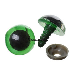 200 Sets(100 Pairs) Green Plastic Eyes for Toy Doll Making Craft
