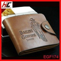 Vintage Men Leather wallet Bailini branded hunter wallet with snap retro credit card holder money clip best sell