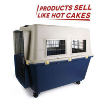 Superior quality hot-sale aluminum two doors dog cage