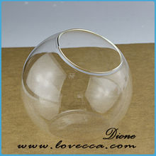 cheap crystal vase / cheap clear glass vase / blown glass vase