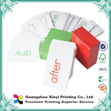 di alta qualità ingrosso artpaper laminazione rotondo angolari personalizzate schede didattiche con box personalizzato