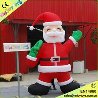Christmas decoration inflatable Santa Claus, cartoon character santa claus for sale
