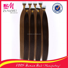 new arrival virgin remy brazilian human hair extension tape in hair extentions