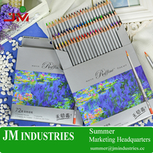 48 color wholesale school stationery set 7100 Marco oil colored pencils with cardboard for painting