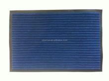 Twin ribbed PVC backed scraper mat