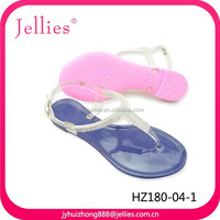 2015 Fashion Crystal Sandals Women Summer Shoes, Flat Jelly Sandals With Diamond
