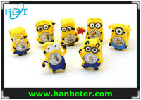 Promotional different style cartoon animal watch,kids slap watch minion