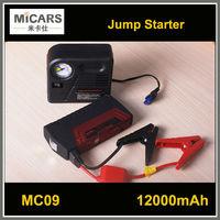 Portable emergency car battery power bank jump starter