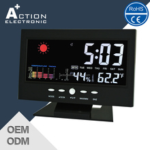 Smart Weather Station Digital Table Alarm Clock with Colorful LCD