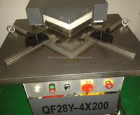 China made Aluminum Carbon Steel and Stainless Corner Notching Machine