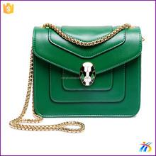 China stylish leisure green shoulder bag small handbags for women