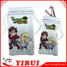 Promotional Gift microfiber double drawstring bags