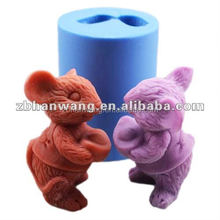 animal shape soap mold new lovely silicone mold for handmade soap making R0774