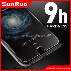 Manufacturer for 0.2mm full screen cover 9H hardness for iPhone 6 tempered glass protector,screen protector glass