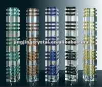 Mixed colours Crystal Glass Pillars for decoration
