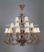 2012 Iron decoration wrought Chandeliers,crystal,CH051-12+6+3