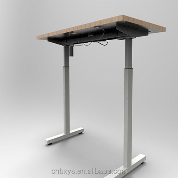 Single motor electric adjustable height office sit stand for Adjustable motor base mount